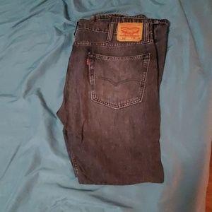 Levi's 502 black gray jeans 38×34